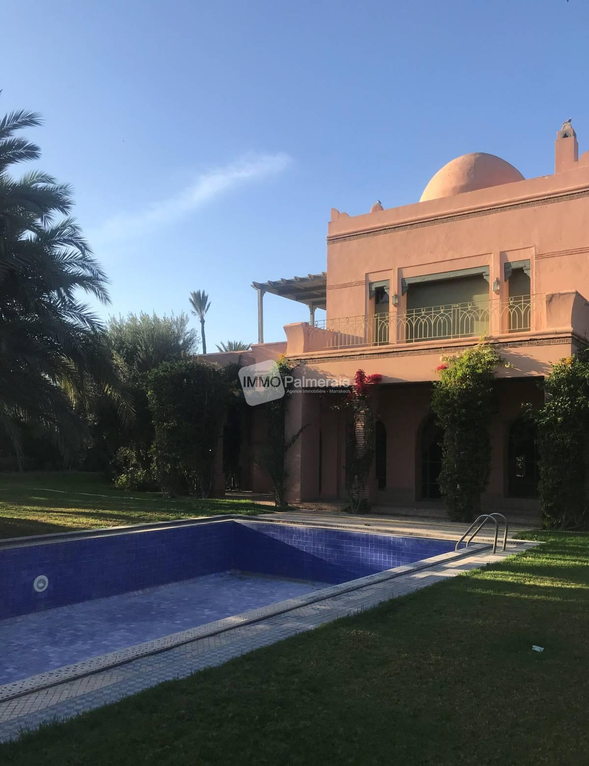 Une superbe villa au cœur de la palmeraie