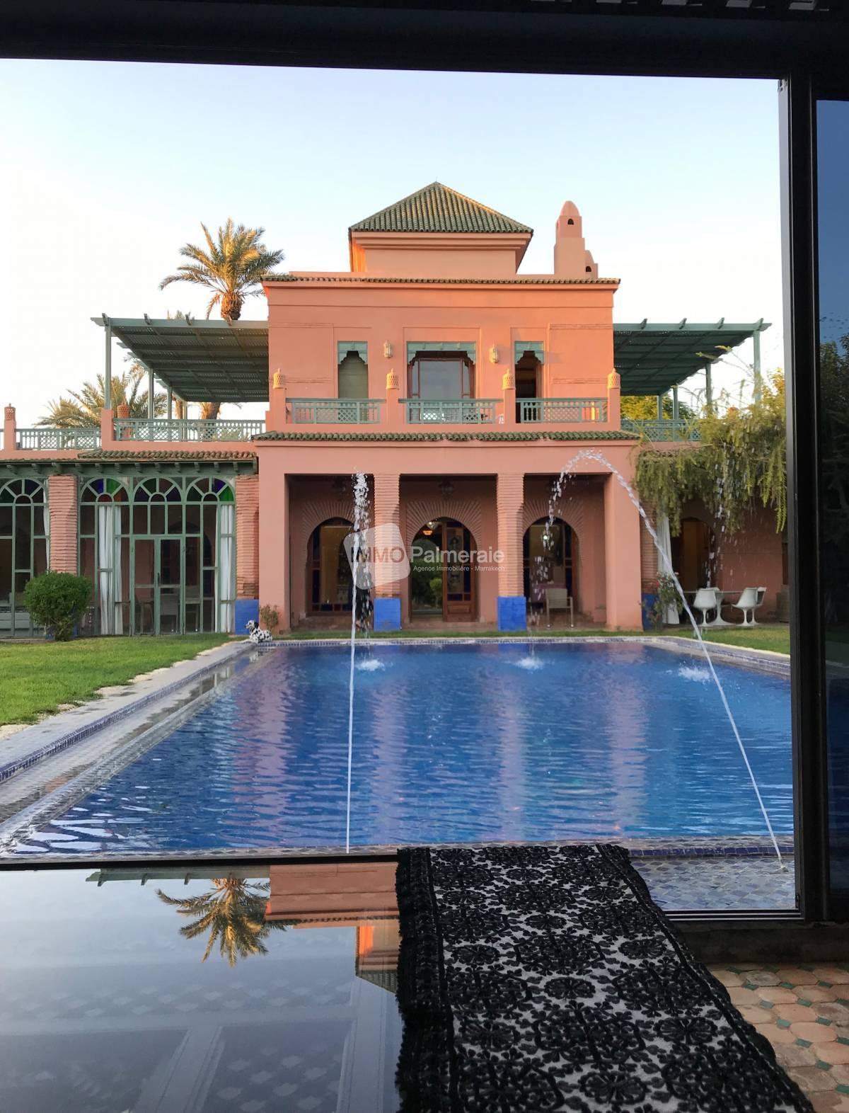 Une magnifique villa au cœur de la palmeraie